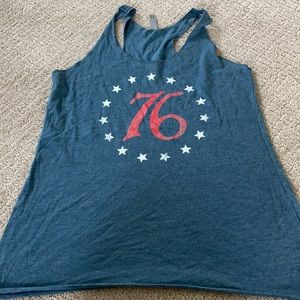 July 4th tank top large red white blue America 76
